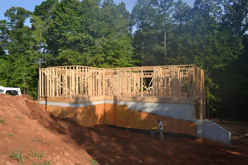 Foundation Grading on Homesite 216