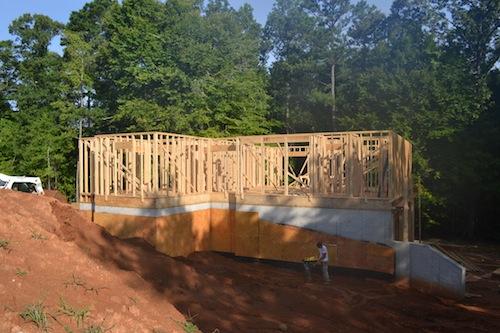Foundation Grading on Homesite 216